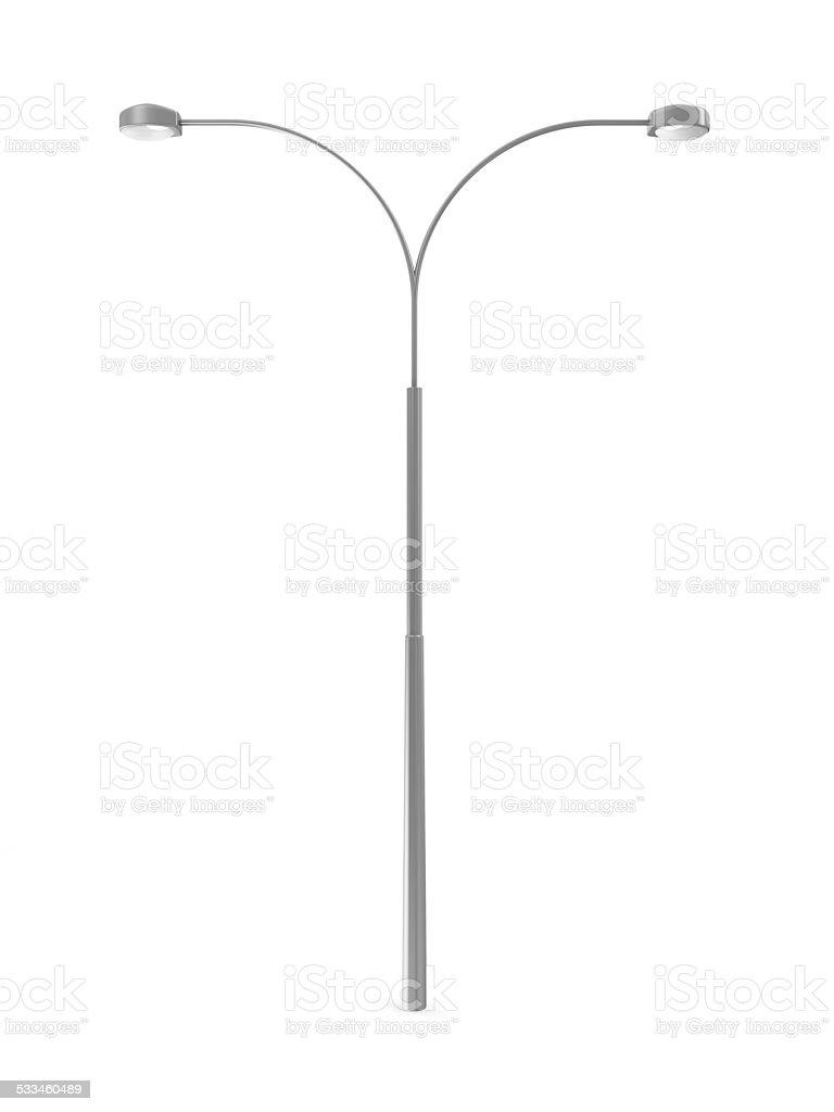 Modern Street Lamp isolated on white background stock photo