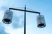 Modern Street lights in Bordeaux France