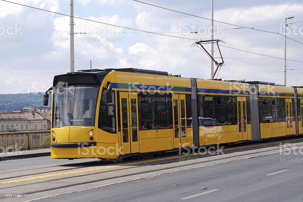 modern streetcar royalty-free stock photo