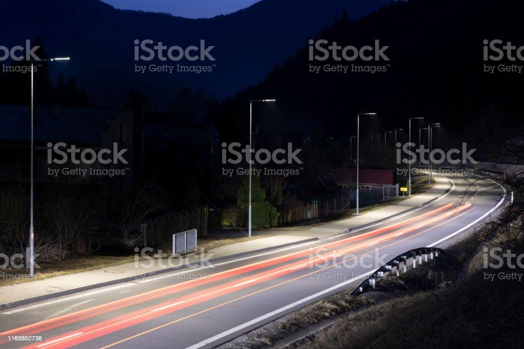 transportation, night, illumination, road