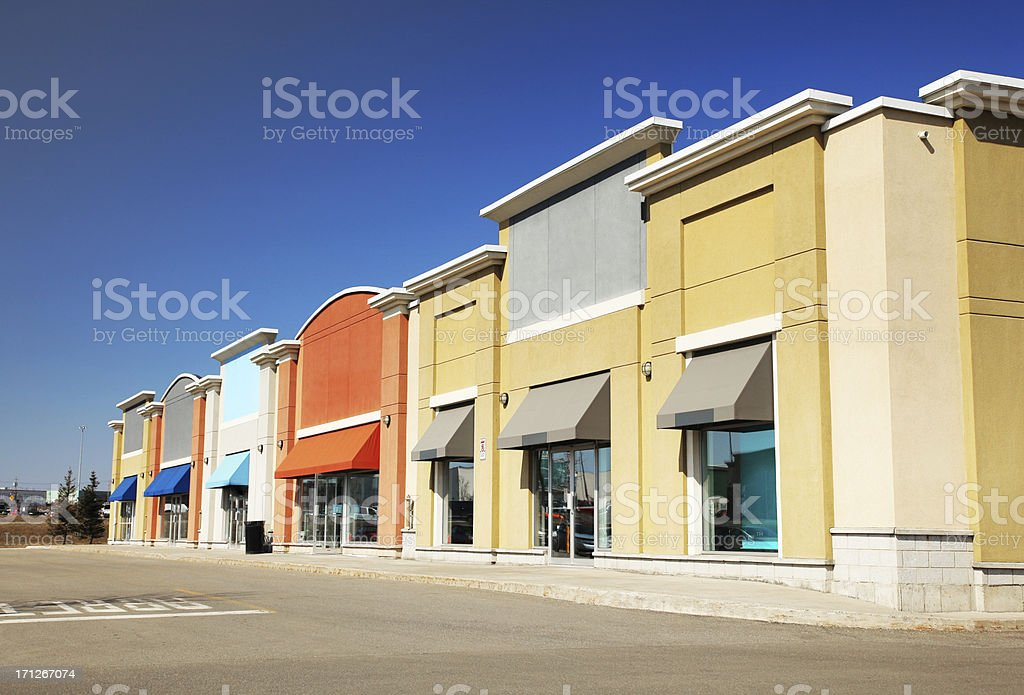 Modern Strip Mall Store Building Royalty Free Stock Photo