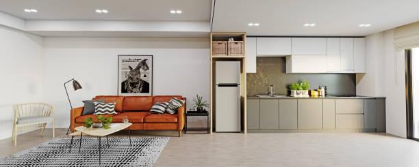 modern studio interior. stock photo