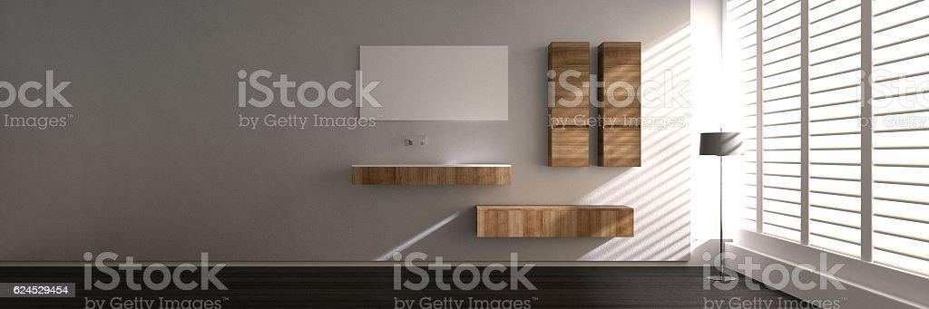 Modern style bathroom stock photo