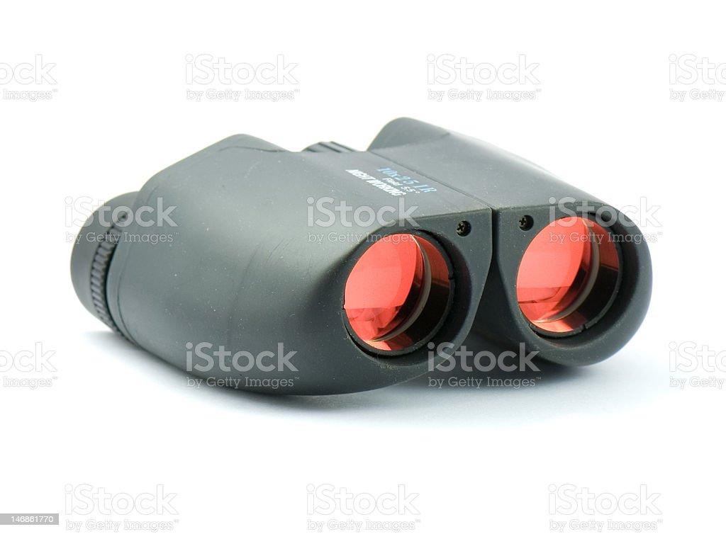 modern style binoculars on white stock photo