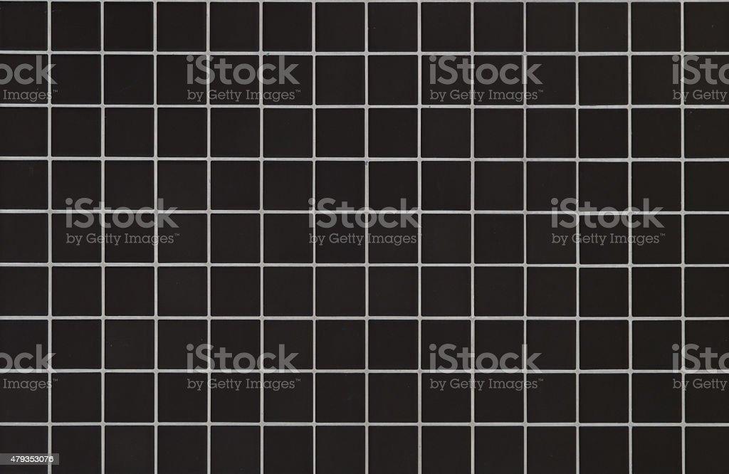 Modern style design of Black mosaic tile stock photo