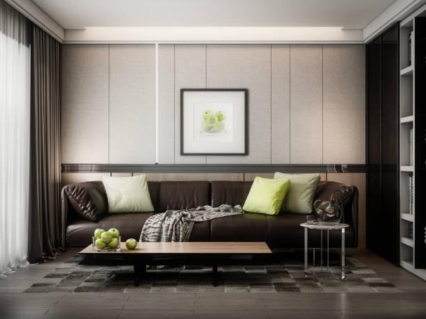 Modern Style Living Room stock photo