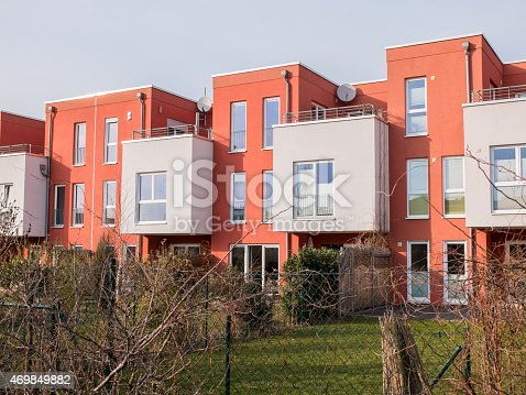 istock Modern style urban housing with backyards 469849882