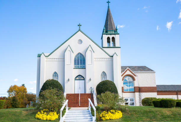 Modern Styled Catholic Church In Southern Maryland stock photo