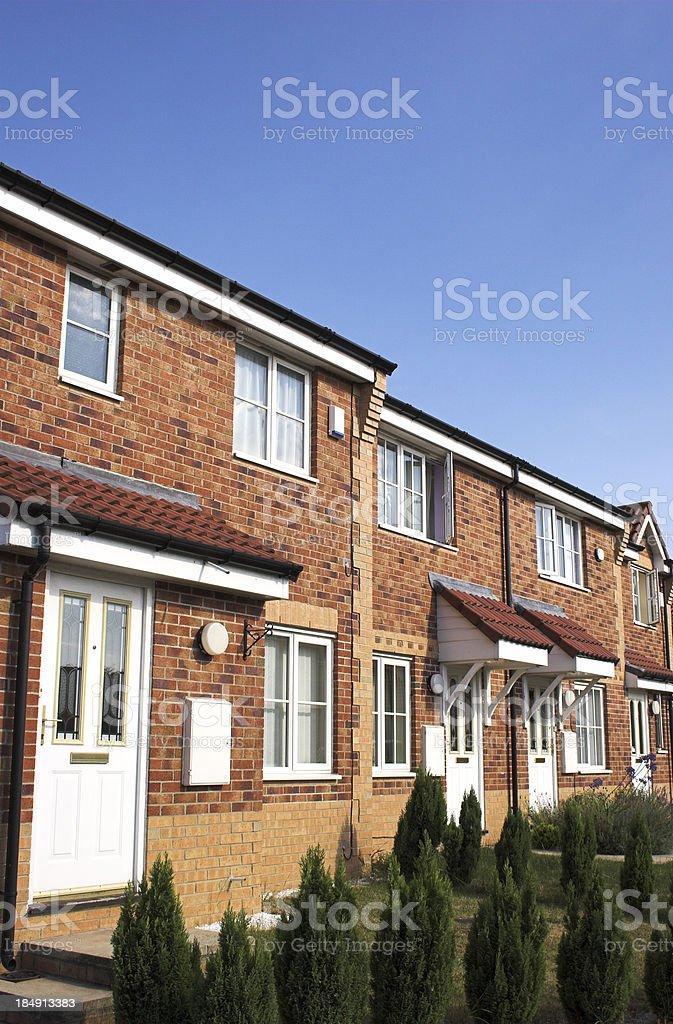 Modern suburban brick family houses royalty-free stock photo