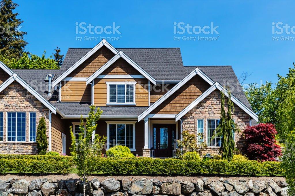 Modern Suburban House Exterior Stock Photo - Download ...