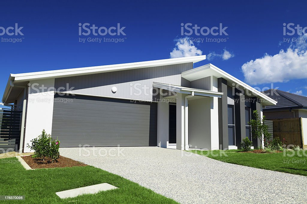 Modern suburban house in Australia stock photo