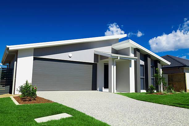 Modern suburban house in Australia stock photo