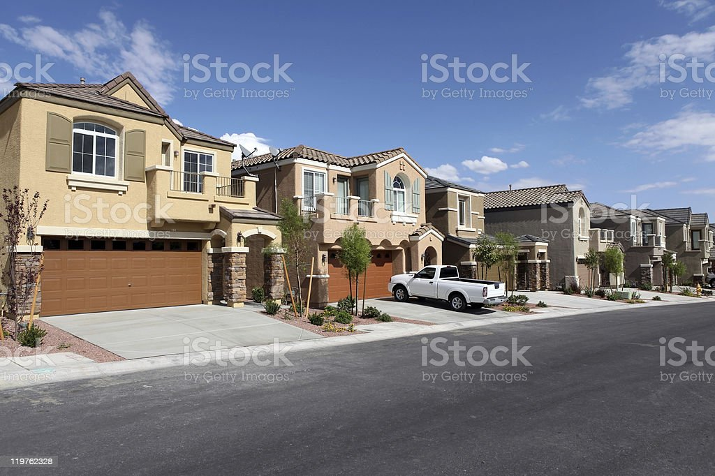 Modern Suburbs stock photo