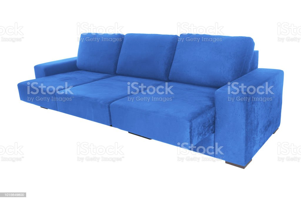 Admirable Modern Suede Couch Sofa Isolated On White Background Stock Photo Download Image Now Ocoug Best Dining Table And Chair Ideas Images Ocougorg