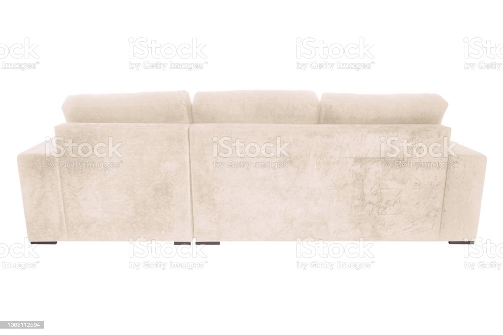 Prime Modern Suede Couch Sofa Isolated On White Background Stock Ocoug Best Dining Table And Chair Ideas Images Ocougorg