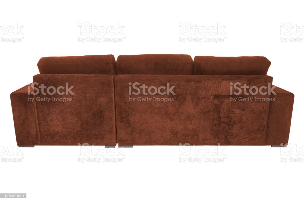 Incredible Modern Suede Couch Sofa Isolated On White Background Stock Ocoug Best Dining Table And Chair Ideas Images Ocougorg
