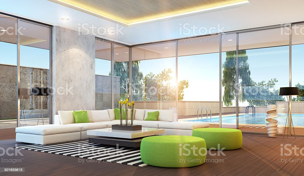 Moderne Sunset Villa – Foto