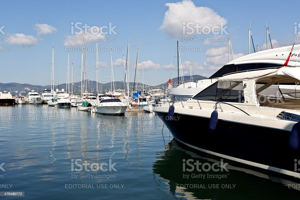 Modern Super Luxury Yachts Stock Photo - Download Image Now