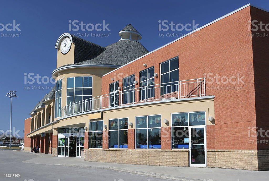 Modern Supermarket Building stock photo