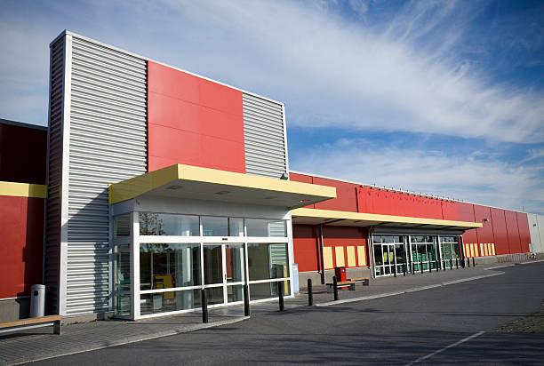 supermercado moderno - fachada - fotografias e filmes do acervo