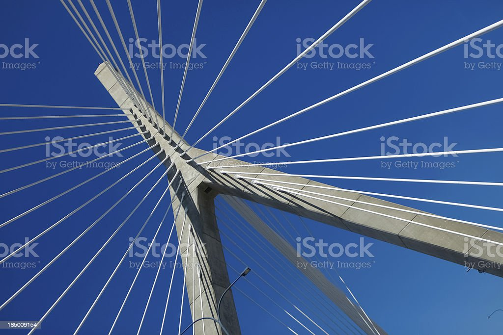 Modern Suspension Bridge stock photo