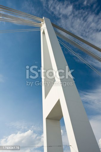 istock Modern suspension bridge structure 179304175