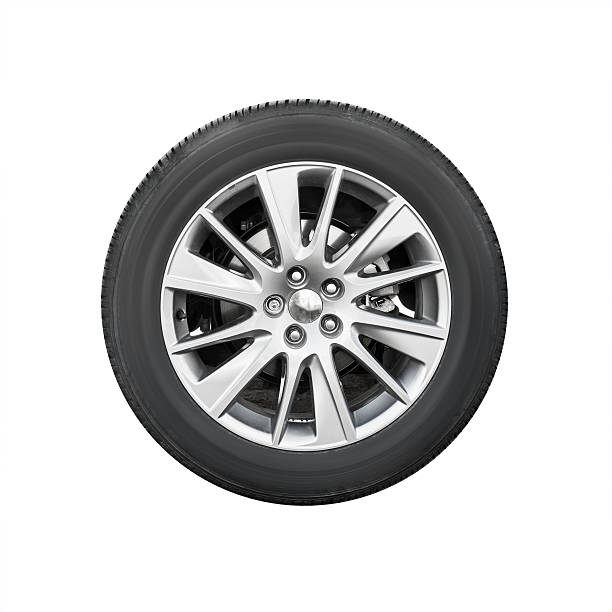 Modern suv car wheel, front view isolated Modern suv car wheel, front view isolated on white background wheel stock pictures, royalty-free photos & images