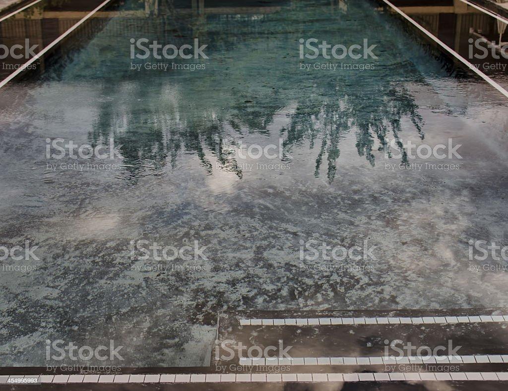 Modern swimming pool royalty-free stock photo