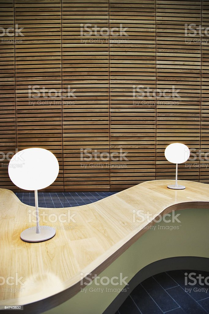 Modern table in office lobby royalty-free stock photo