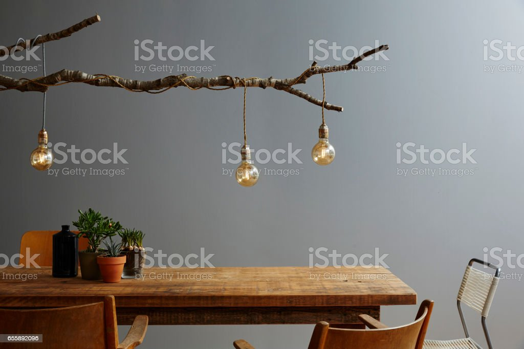 modern table scene restaurant urban style stock photo