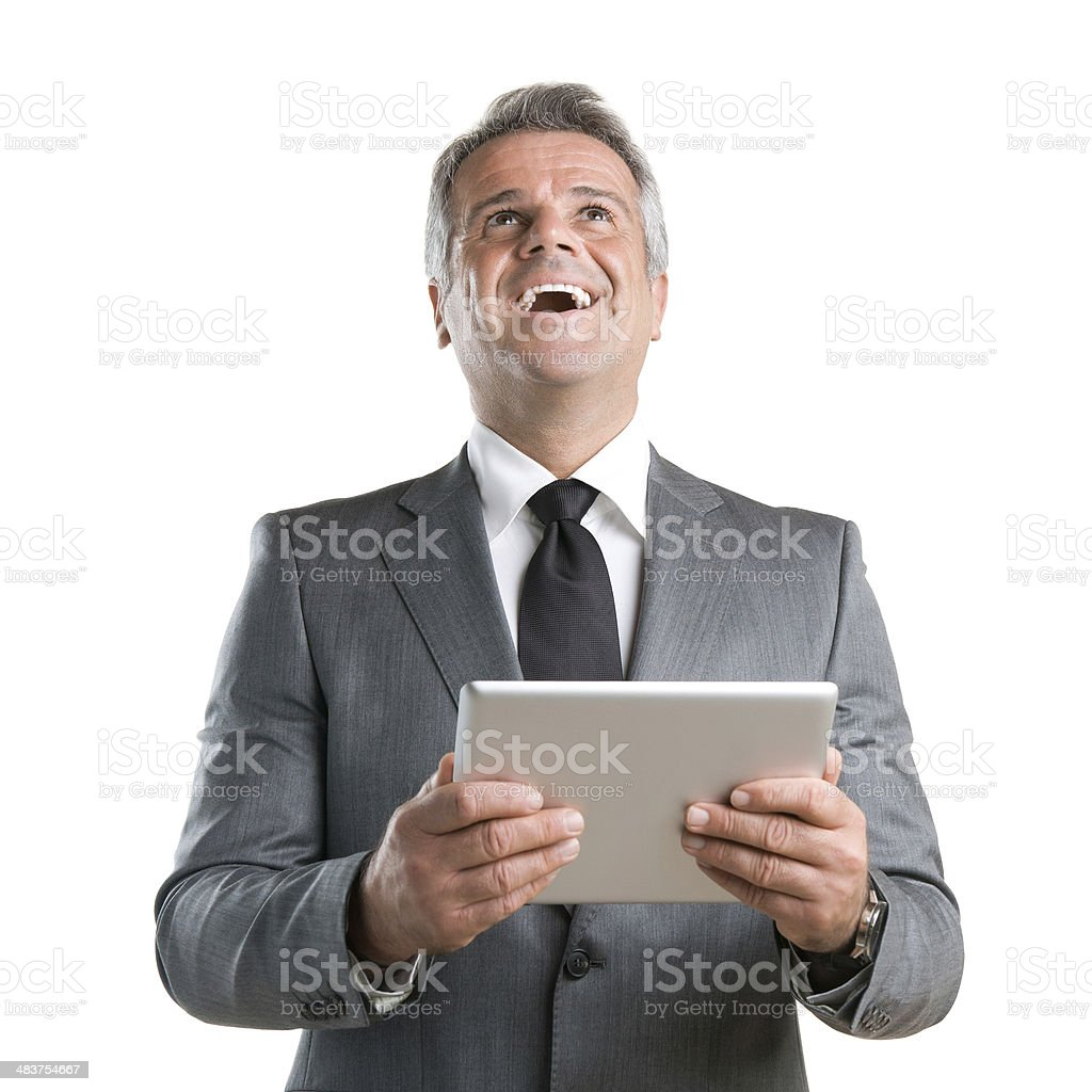 Modern tablet success royalty-free stock photo