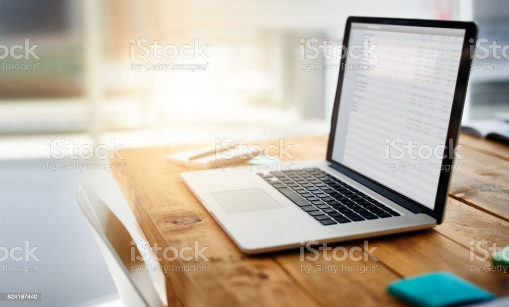 Modern tech for a modern workplace stock photo