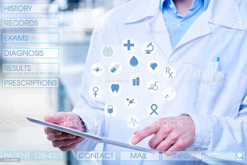 Modern technologies in medicine stock photo