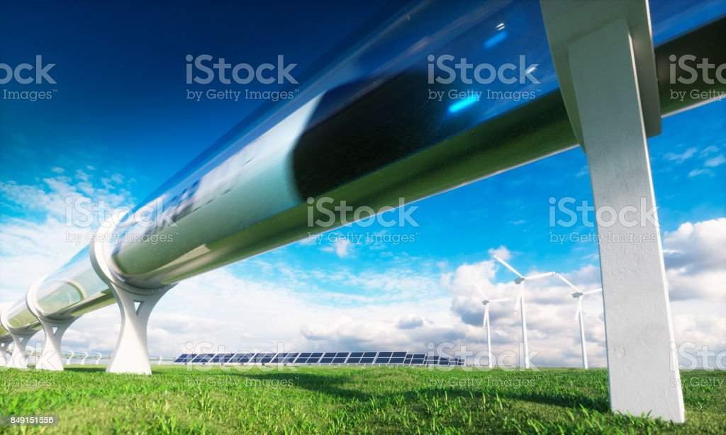 Modern technologies in transport and energy. 3d rendering. stock photo