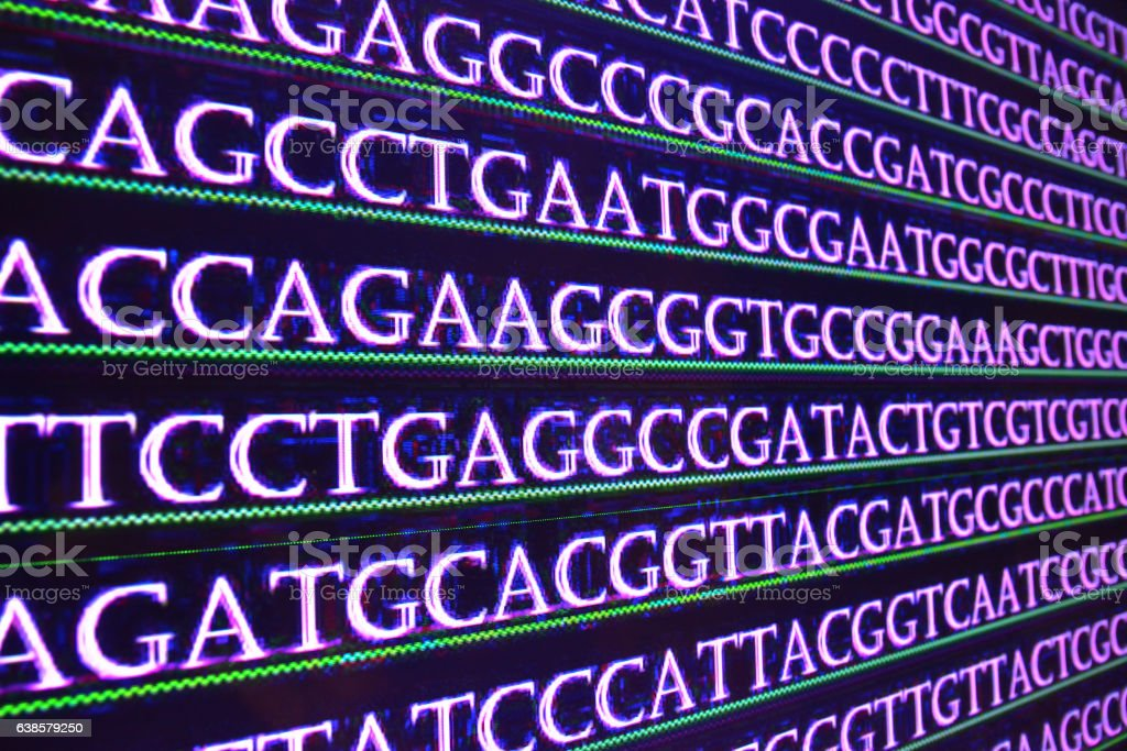 Modern technology: DNA sequencing. stock photo