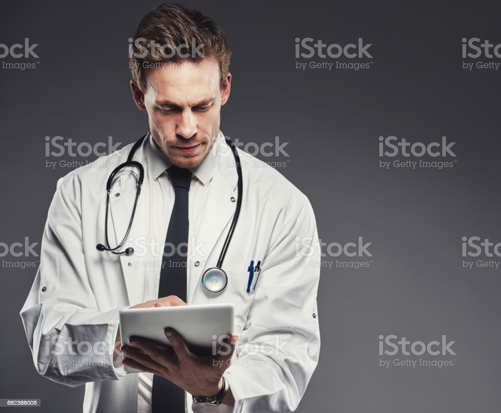 Modern technology in medical practice royalty-free stock photo