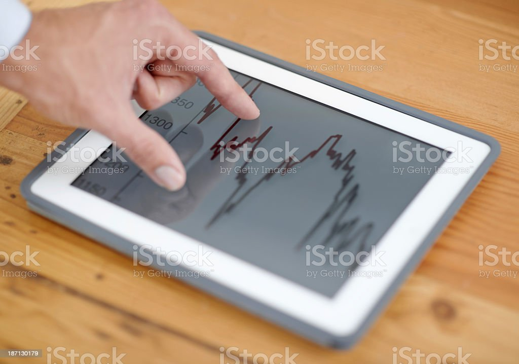 Modern technology in the business world royalty-free stock photo