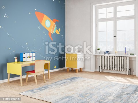 Modern Teen Bedroom in Space Style