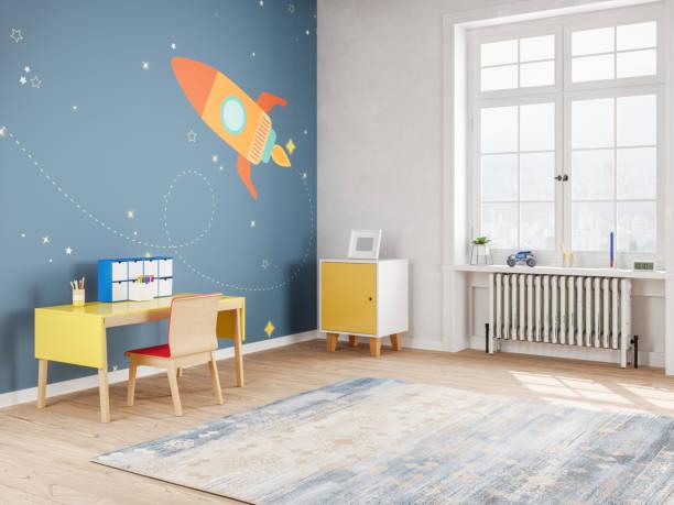 chambre ado moderne dans l'espace style - enfance photos et images de collection