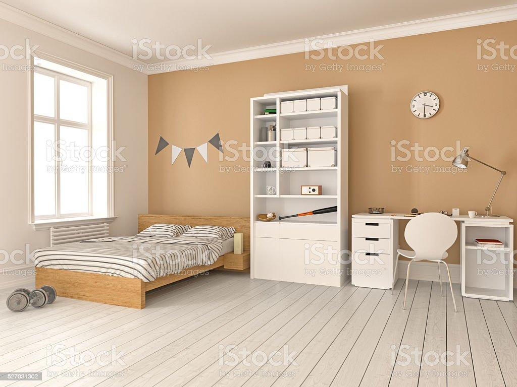 Modern teenage room stock photo