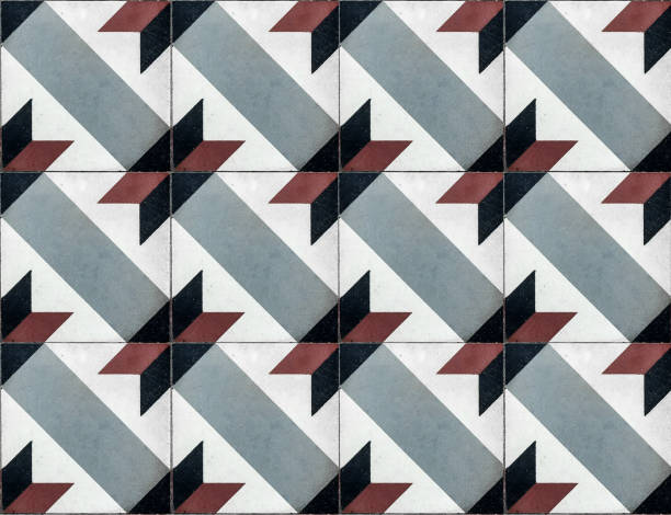 Modern tegel tiles seamless texture stock photo