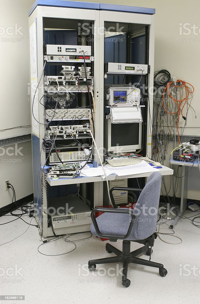 Modern Test-station inside an Industrial Building royalty-free stock photo