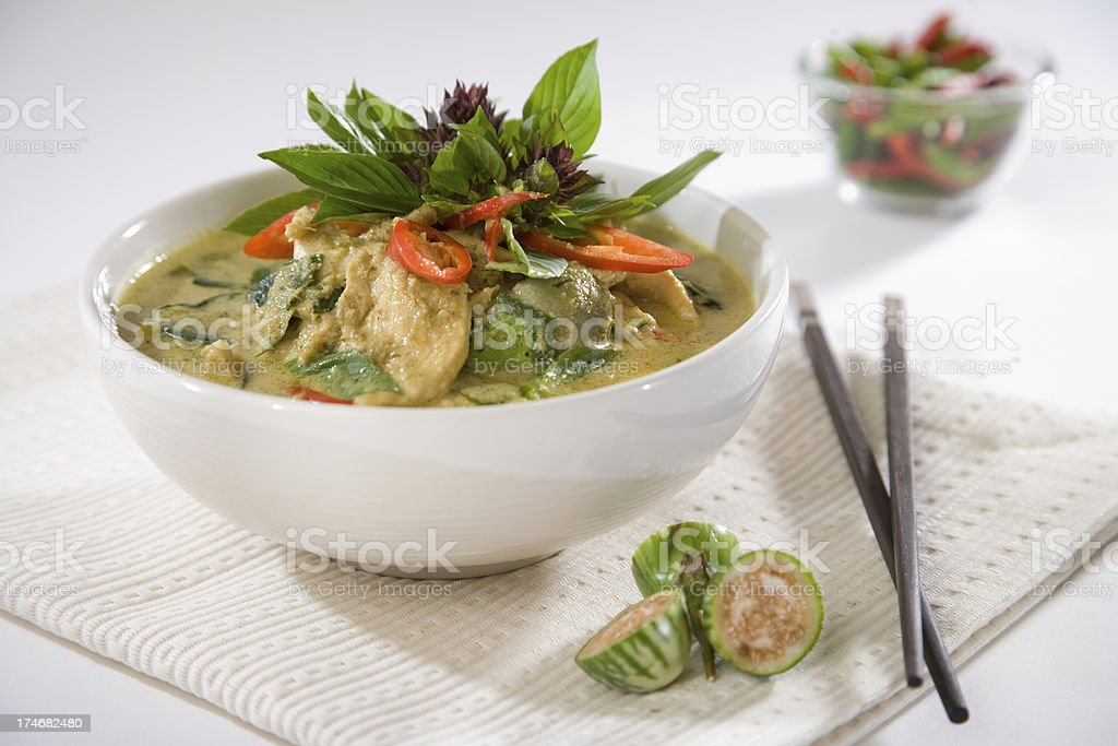 Modern Thai Green Curry stock photo