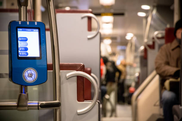Modern ticket validation machine stock photo