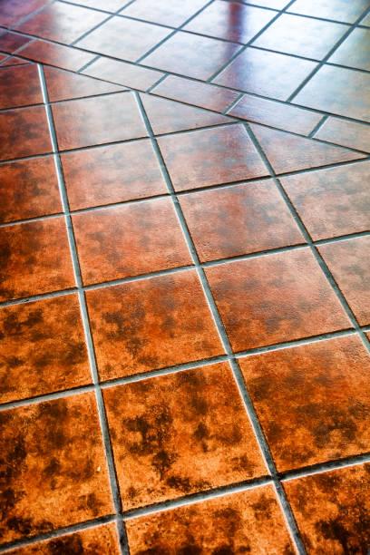 Modern tile floor stock photo