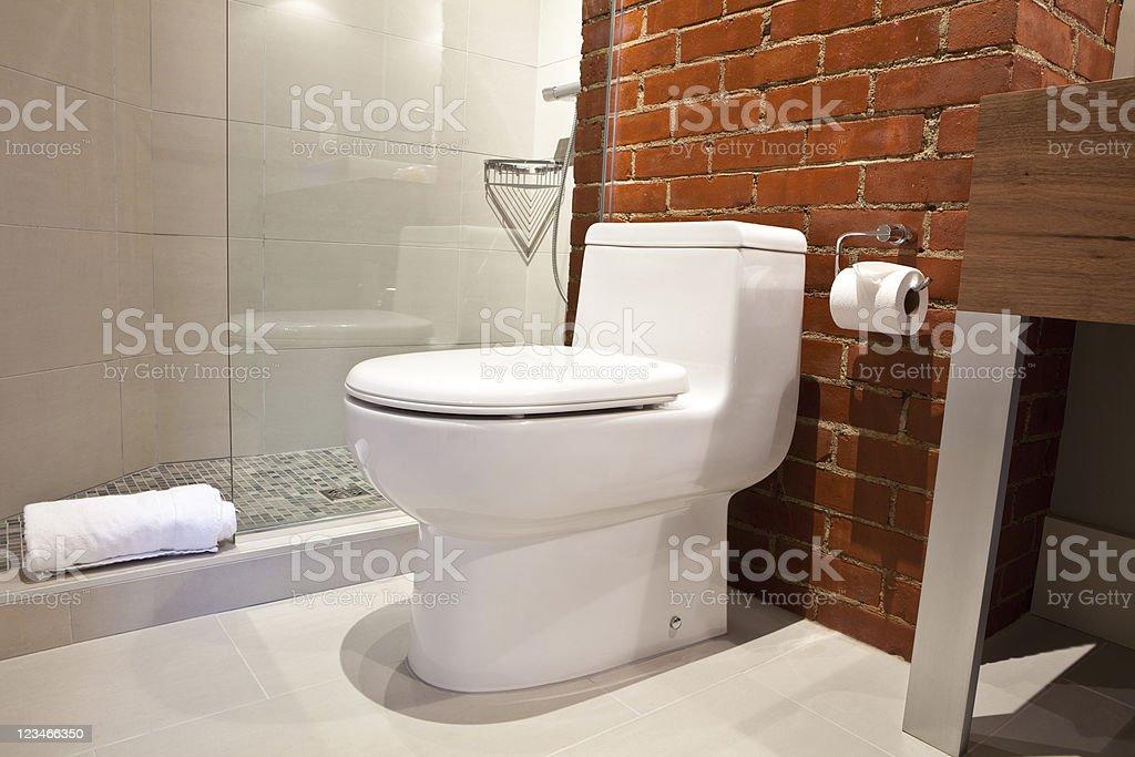Moderne Toilette In Renoviertes Badezimmer Stockfoto und ...