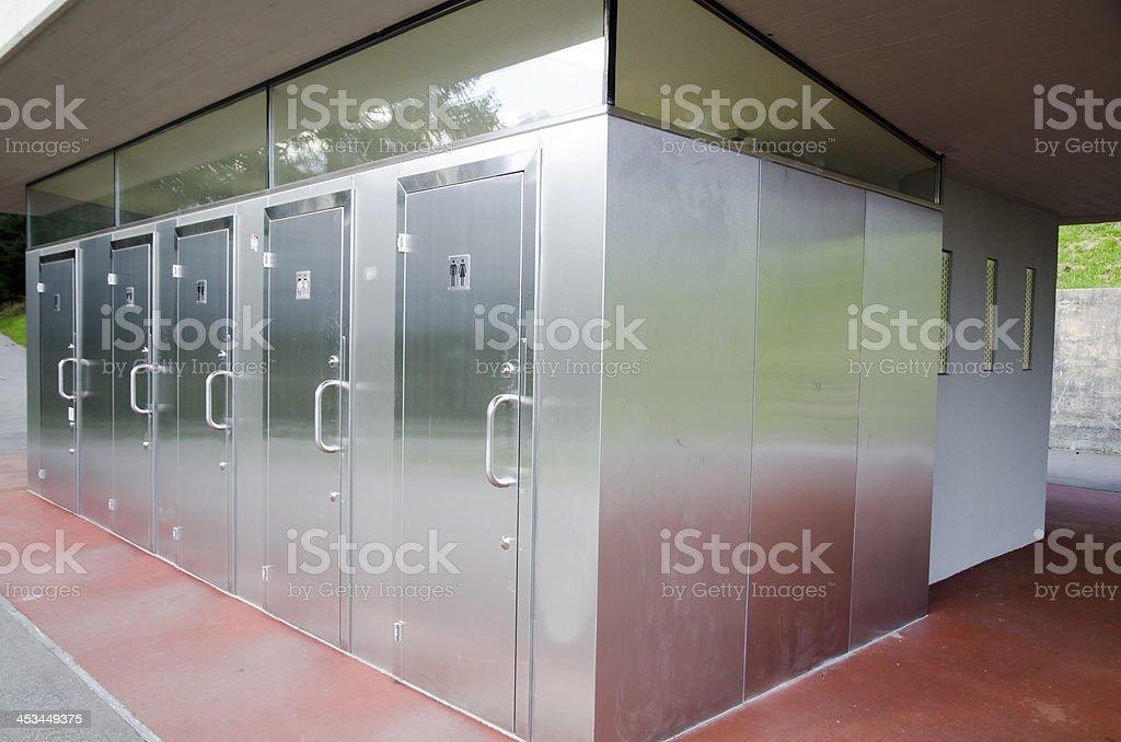 Modern toilet stock photo