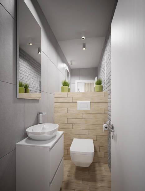 moderne wc-design - badmöbel gäste wc stock-fotos und bilder