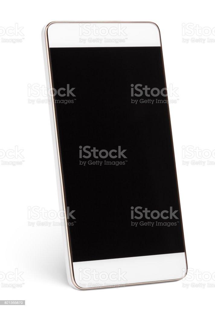 Moderne Touchscreen-smartphone isoliert auf weiss Lizenzfreies stock-foto