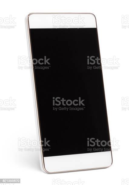 Moderne Touchscreensmartphone Isoliert Auf Weiss Stockfoto und mehr Bilder von Ausrüstung und Geräte